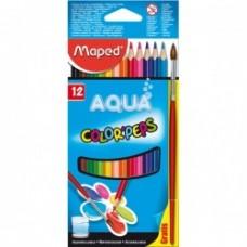 12 Crayons de Couleur Aquarelles Color