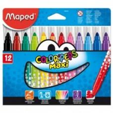 12 Feutres Maxi de coloriage Maped Color Peps