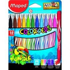 12 Feutres de coloriage Maped Jungle