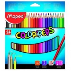 24 Crayons de Couleur Color Peps Maped