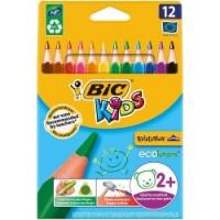 Pochette 12 Gros crayons de couleurs