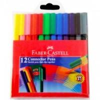 Pochette 12 feutres Faber-Castell Connectors