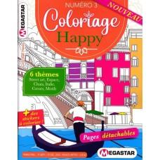 coloriage happy numero 3